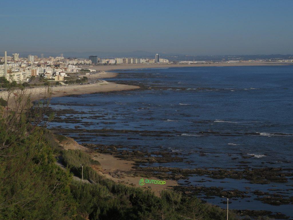 Vista do Cabo Mondego para a Figueira da Foz