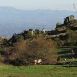 Foto da serra do Caramulo com a Serra da Estrela ao fundo