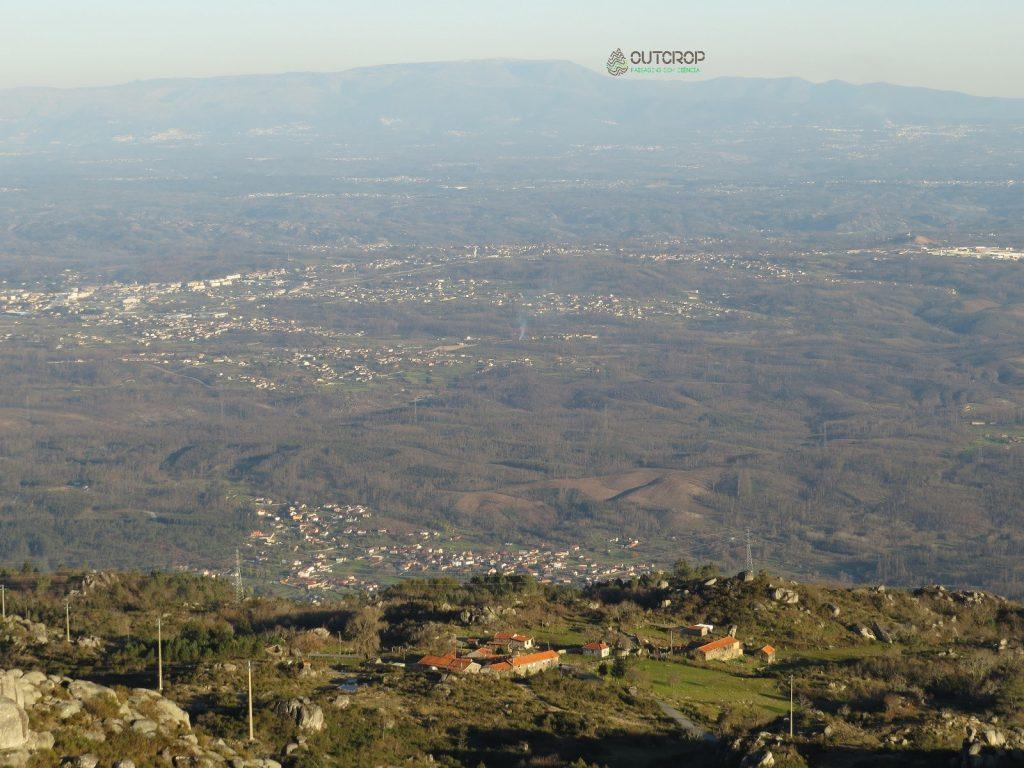 Foto das vistas proporcionadas pela Serra do Caramulo