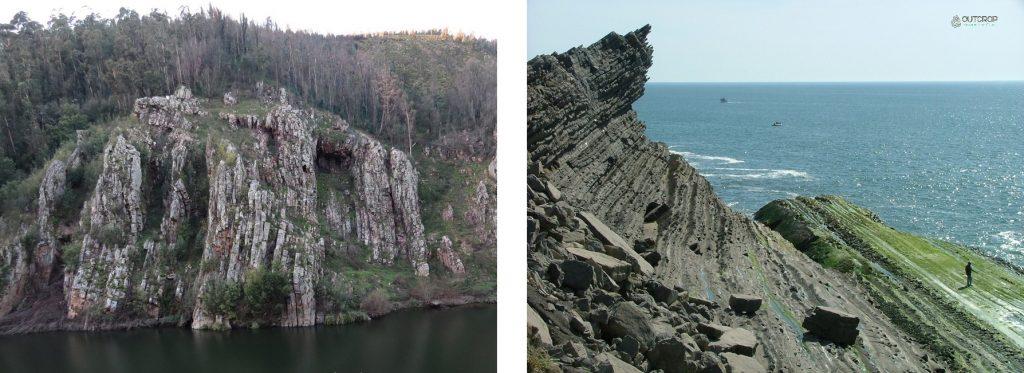 Geologia e geoformas em rochas metamórficas e sedimentares